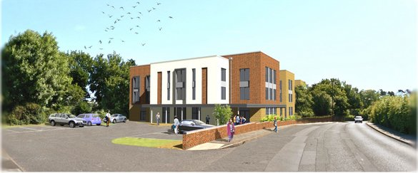 Development site for 70-bed care home in Birmingham