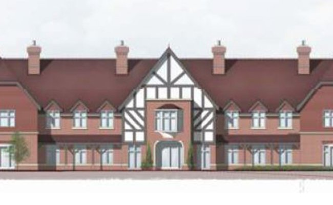 Care home development site, Surrey