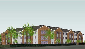 Proposed 66-bed care home, Hampshire