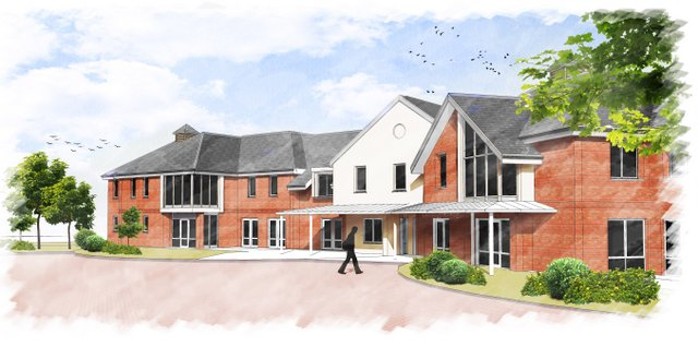 Proposed 70-bed elderly care home in St Neots, Cambridgeshire