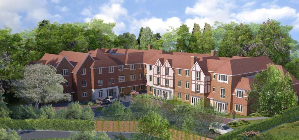 Retirement living site with detailed planning permission or potential for care home use