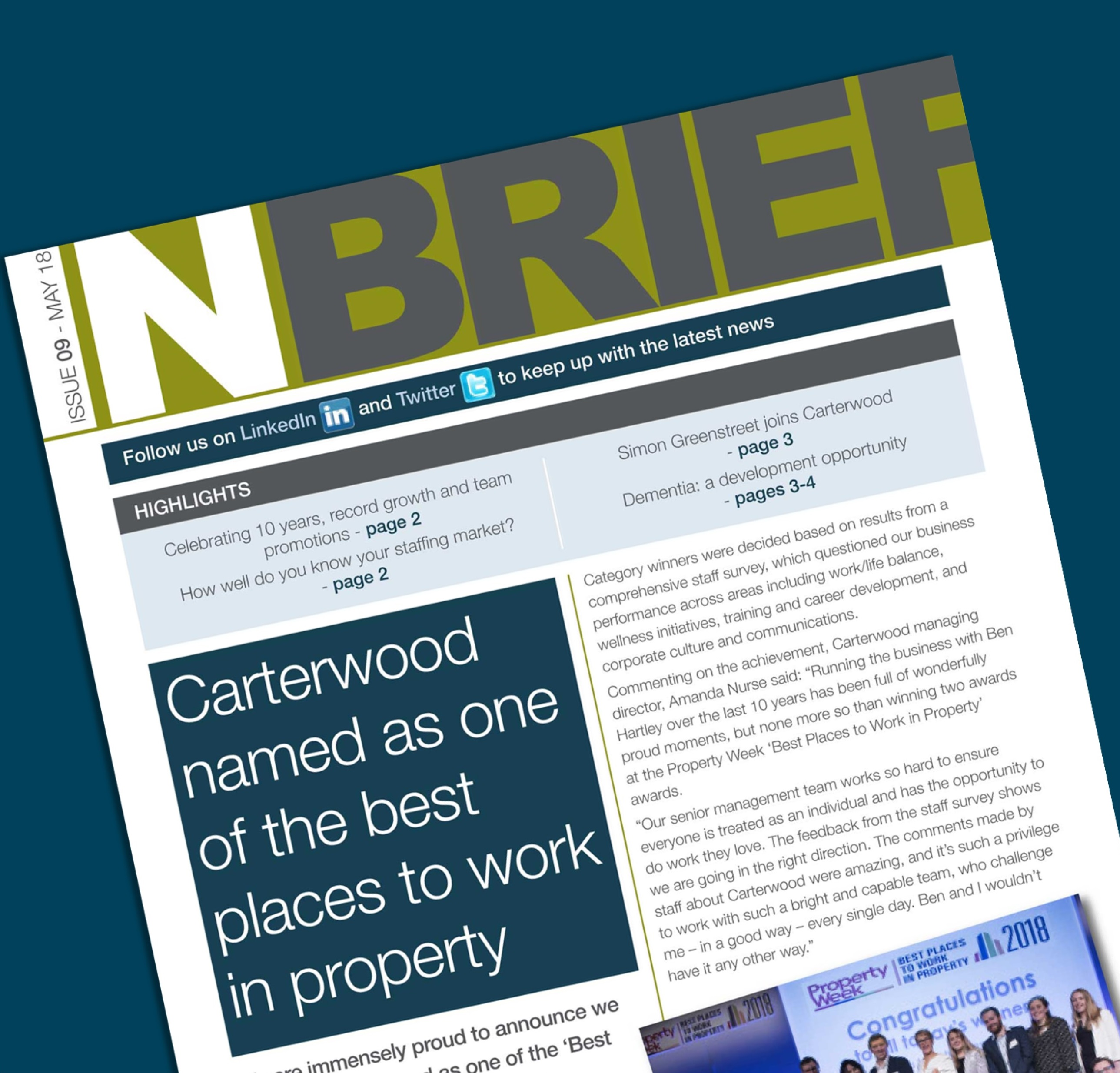 Carterwood Newsletter – May 2018