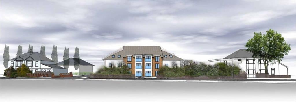 Proposed care home development site, Keynsham