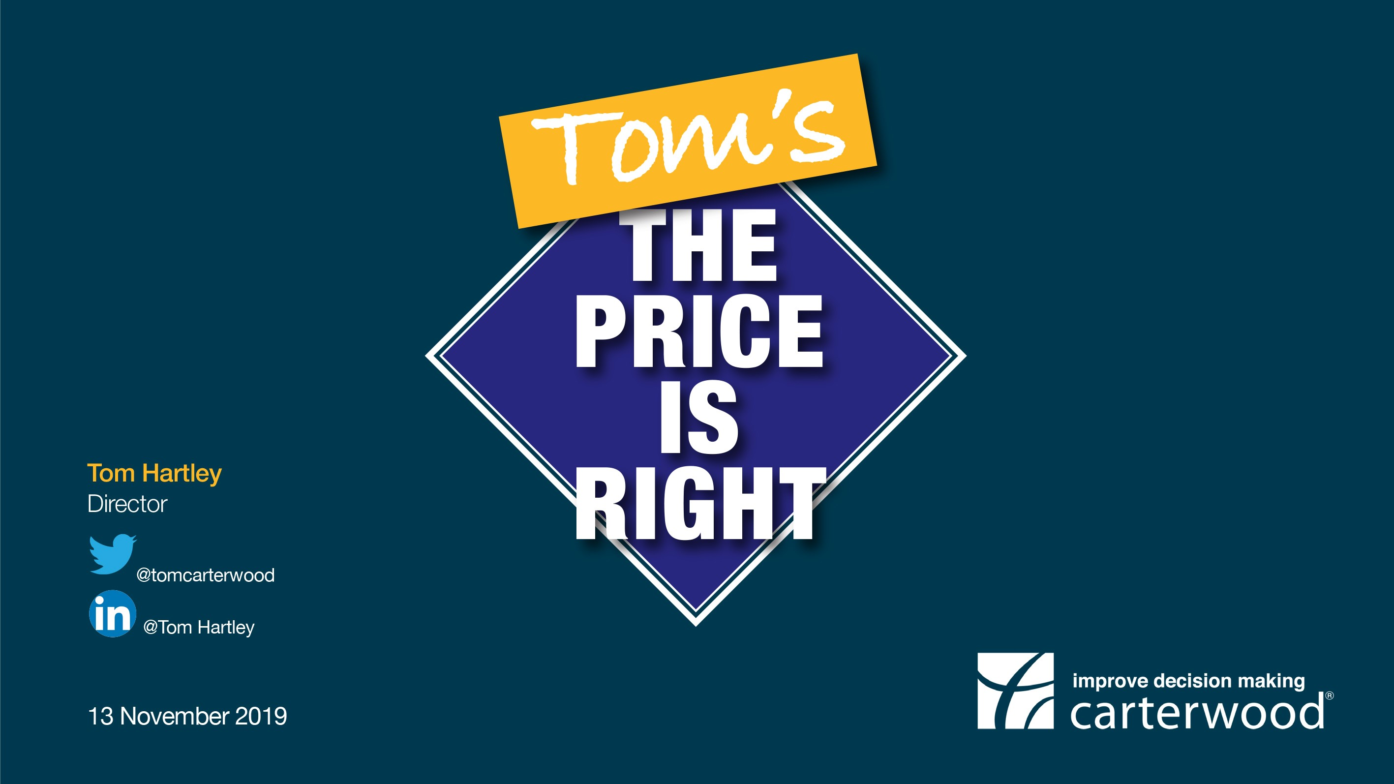 Carterwood's latest fee research – Find out more at 'Tom's The Price is Right' workshop at Care England's Workforce Matters Conference