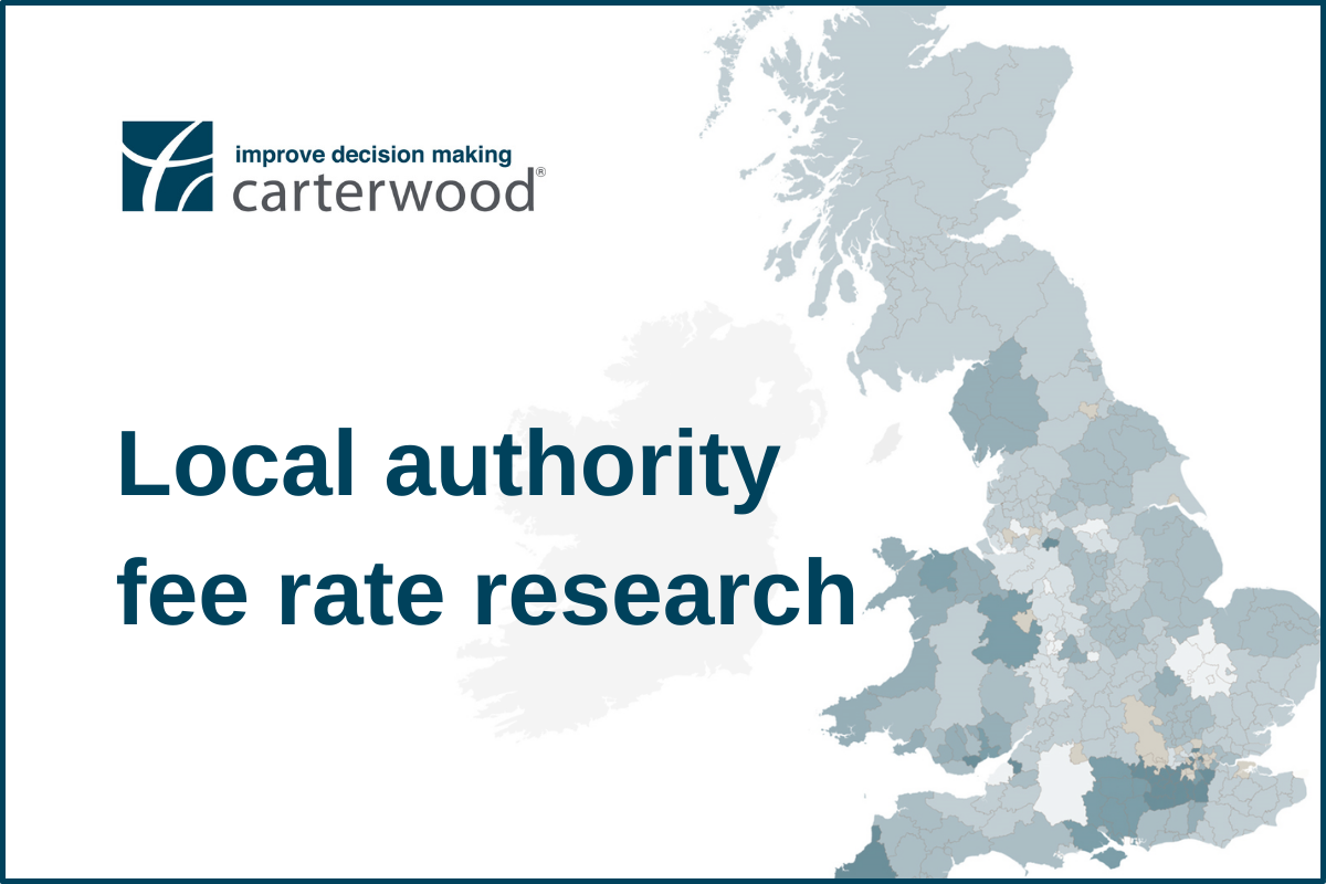 Carterwood research reveals astonishing variation in baseline elderly care home local authority fees