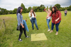 Puzzle solving with Hannah, executive PA, Jessica, senior analyst, Vicky, associate and Emma, client success executive.