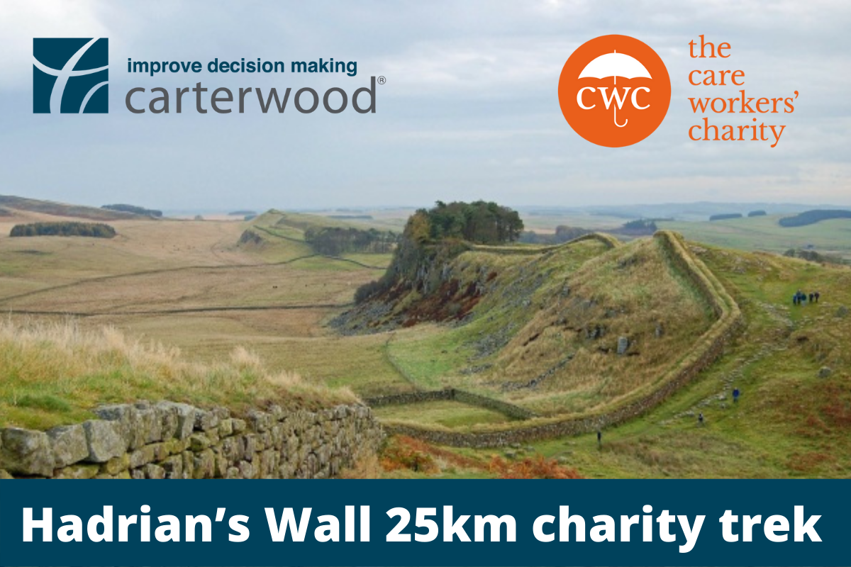 Carterwood support The Care Workers' Charity with 25km Hadrian's Wall trek