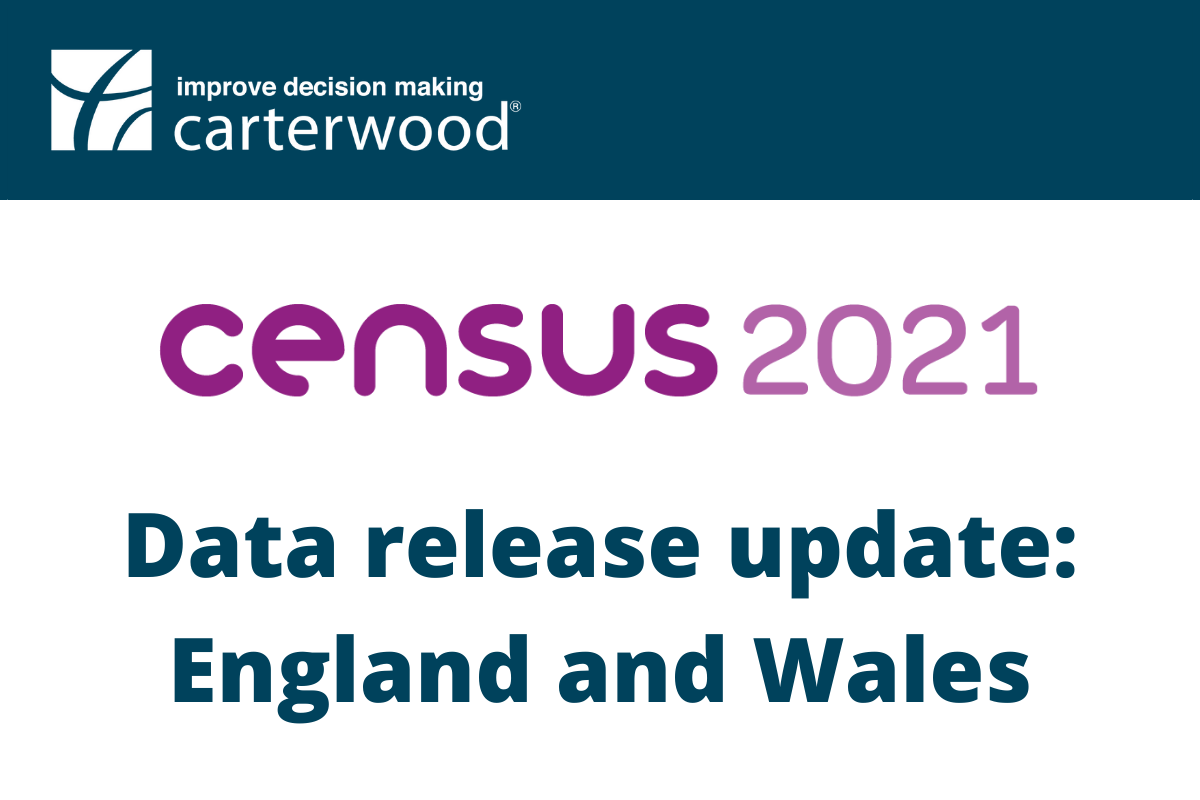Census 2021: England and Wales data release update