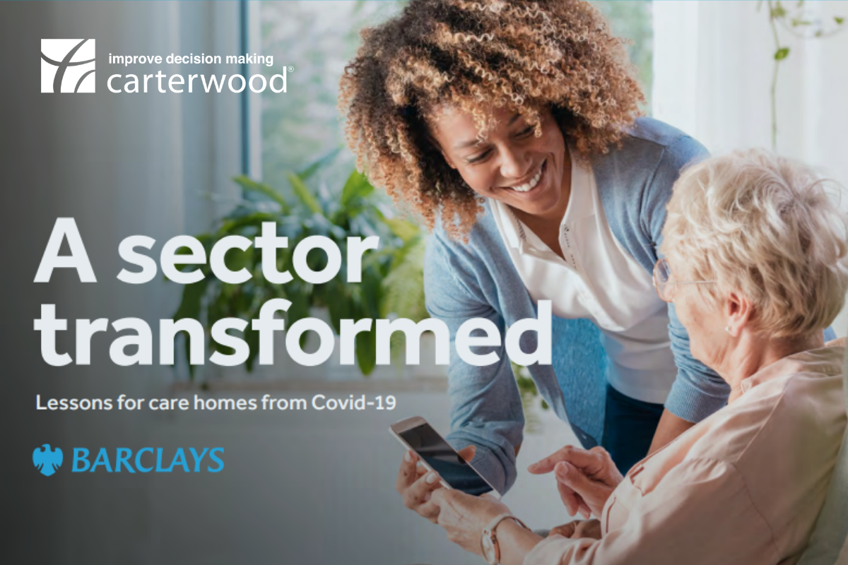 Carterwood contribute to Barclays report; A sector transformed: Lessons for care homes from Covid-19